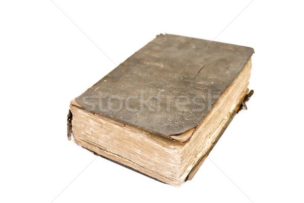 Starożytnych książki uszkodzony biały tle retro Zdjęcia stock © simas2