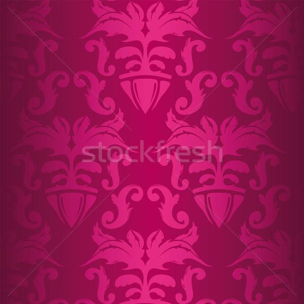 Kwiatowy wzór ilustracja różowy vintage charakter Zdjęcia stock © simas2