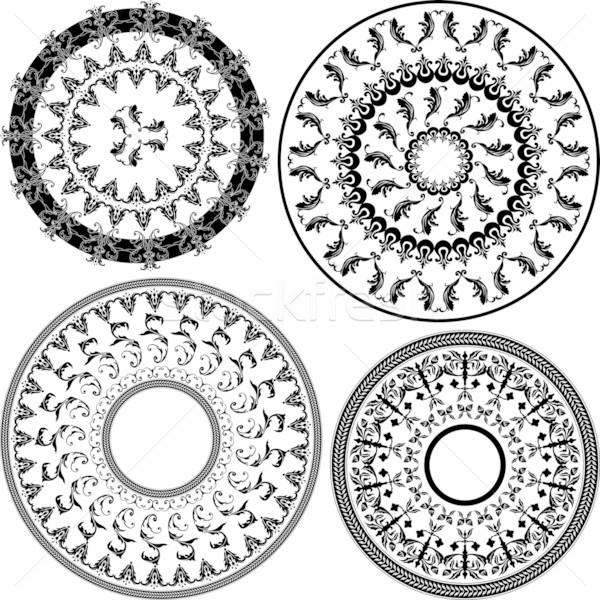 Patrones establecer cuatro blanco ilustración resumen Foto stock © simas2
