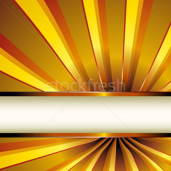 Spiral altın güzel tünel Stok fotoğraf © simas2
