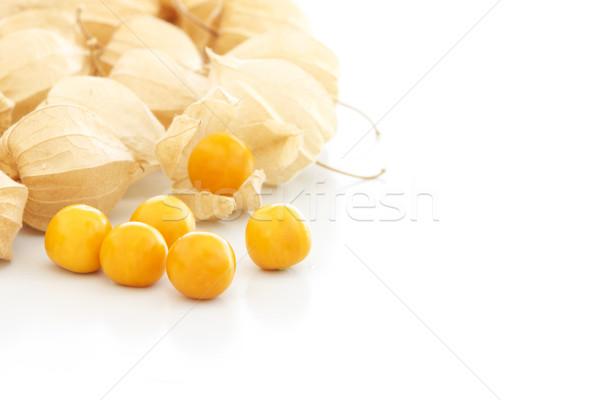 Alimentos frutas naranja amarillo semillas Berry Foto stock © simas2