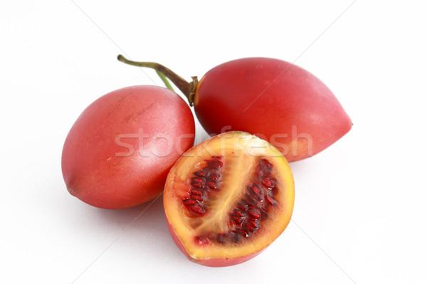 Blanco foto tomate frescos corte semillas Foto stock © simas2