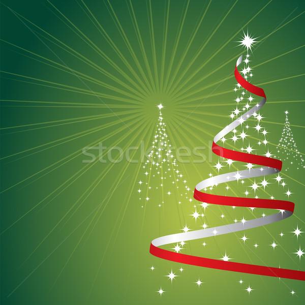 Noel ağaçlar Yıldız yeşil dizayn arka plan Stok fotoğraf © simas2
