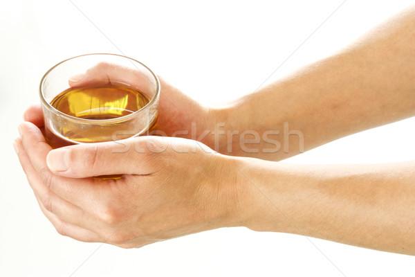 Kobieta ręce szkła herbaty kobiet Zdjęcia stock © simas2