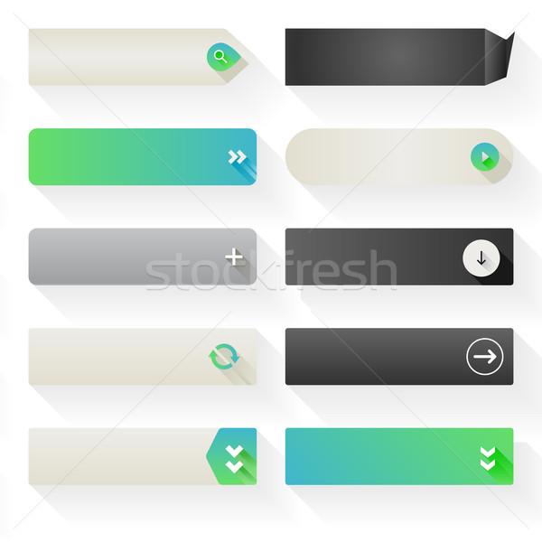 Elemanları on çağrı eylem düğmeler Stok fotoğraf © simas2