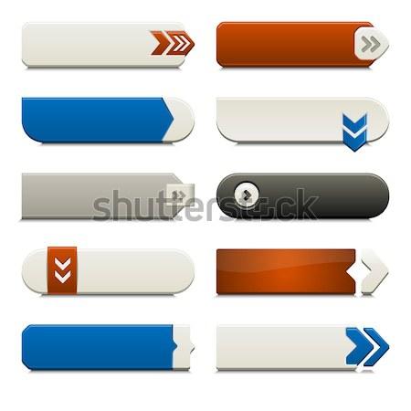 Descargar botón establecer negro gris Foto stock © simas2