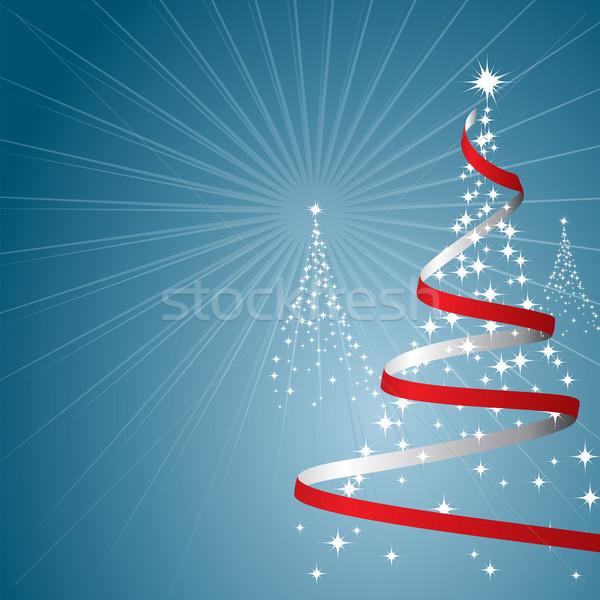 Noel ağaçlar Yıldız mavi dizayn arka plan Stok fotoğraf © simas2