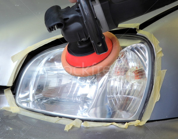 Car light repairing,  tool polish headlight  Stock photo © simazoran