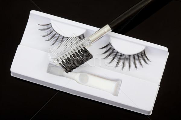 ストックフォト: 化粧 · 人工的な · 眉毛 · ブラシ · 黒