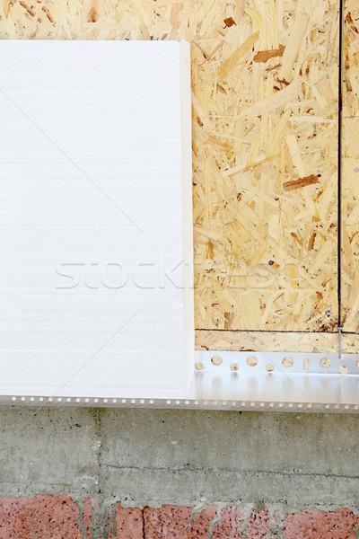 Isolamento folha parede trabalhando cor Foto stock © simazoran