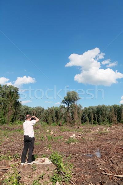 Fotós elvesz képek frissen felhők fa Stock fotó © simazoran