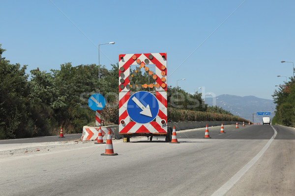 Highway reconstruction in Greece Stock photo © simazoran