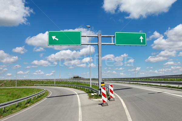 道路 交差点 標識 新しい 空っぽ にログイン ストックフォト © simazoran