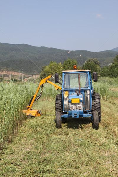 古い トラクター 草 作業 ストックフォト © simazoran