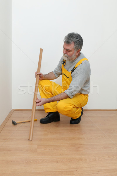 Laminate flooring of room Stock photo © simazoran