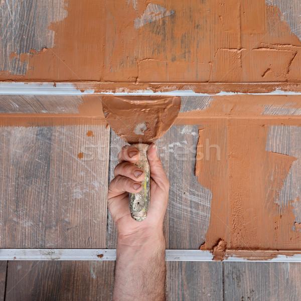 Stock photo: Construction site, tiles