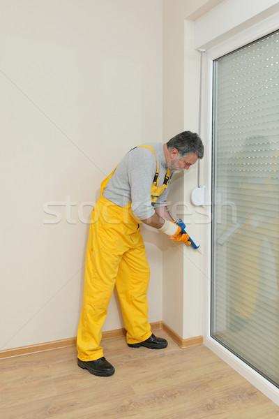 Foto stock: Casa · silicone · porta · janela