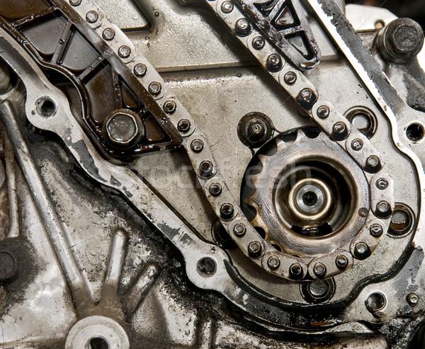 Attrezzi auto motore catena sfondo Foto d'archivio © simazoran