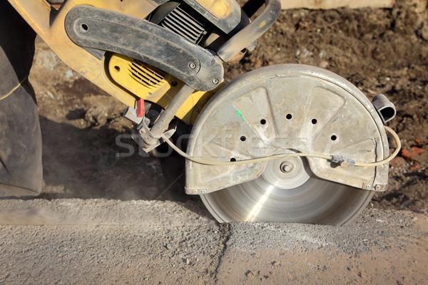 építkezés vág szerszám aszfalt beton vág Stock fotó © simazoran