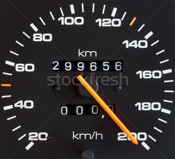 Velocidad coche naranja negro blanco Foto stock © simazoran