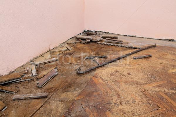 Otthon rendbehoz öreg tölgy fa belső Stock fotó © simazoran