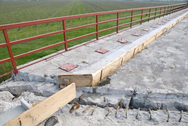 дороги реконструкция асфальт подготовленный забор Сток-фото © simazoran