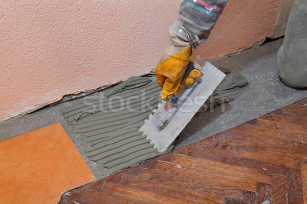 Stock photo: Home renovation, tiles