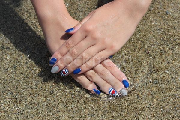 Fingernägel Maniküre Finger Nagel Behandlung Stock foto © simazoran