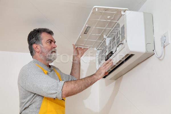 Stock fotó: Levegő · állapot · installál · villanyszerelő · berendezés · szoba