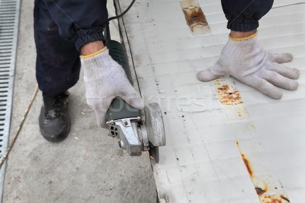 работник угол строительная площадка тепло Сток-фото © simazoran