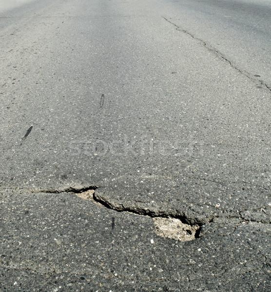 Damaged asphalt Stock photo © simazoran