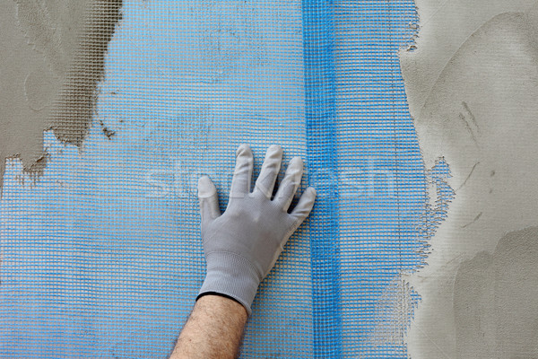 Polystyrene insulation of wall Stock photo © simazoran
