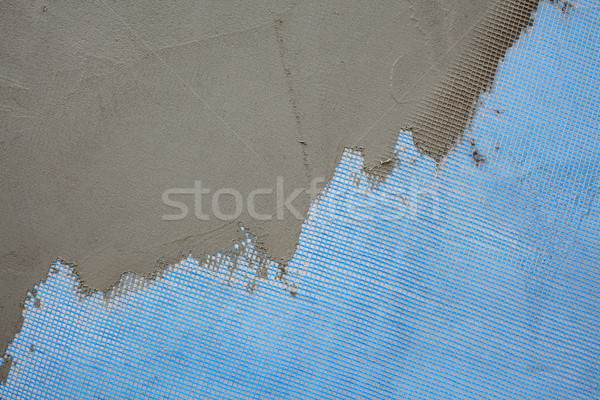 Wall insulation, mortar and mesh Stock photo © simazoran