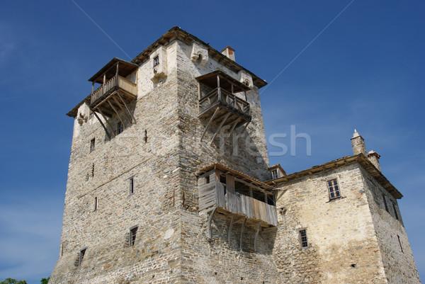 Torony ősi Macedónia Görögország biztonság kastély Stock fotó © simazoran