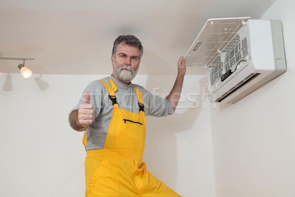 Air condition examine or install Stock photo © simazoran