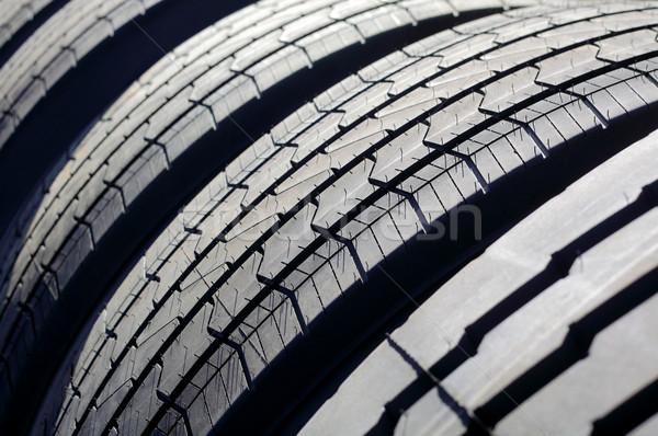 Zdjęcia stock: Ciężarówka · opony · Fotografia · nowego · tekstury