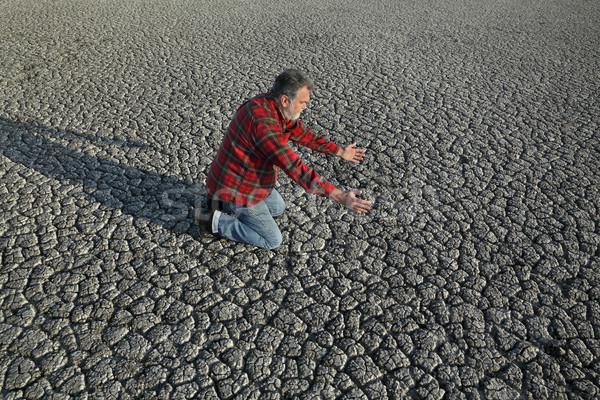 Farmer and drought in field Stock photo © simazoran