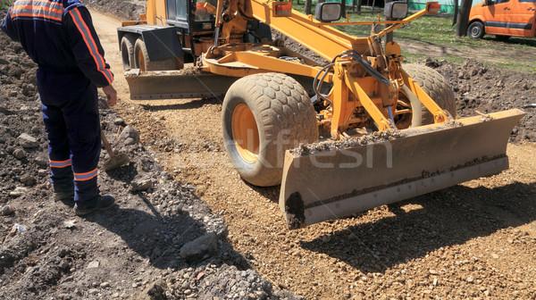 Inşaat araç çalışma yol yapımı işçi Stok fotoğraf © simazoran