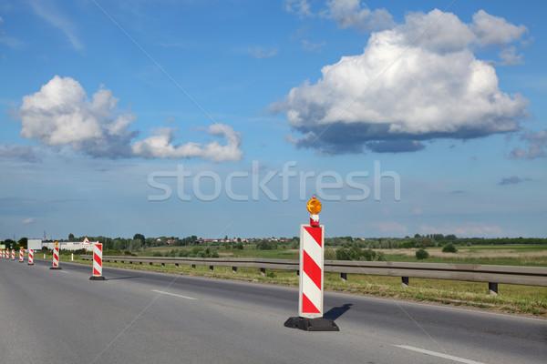 Road construction site Stock photo © simazoran