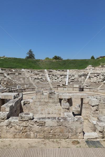 Ancient theatre in Larissa Grece Stock photo © simazoran
