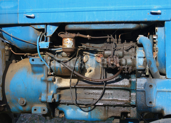 Photo stock: Tracteur · vieux · bleu · moteur · voiture