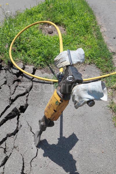 Demolishing asphalt Stock photo © simazoran