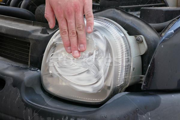 車 光 適用 ヘッドライト 現代 ストックフォト © simazoran