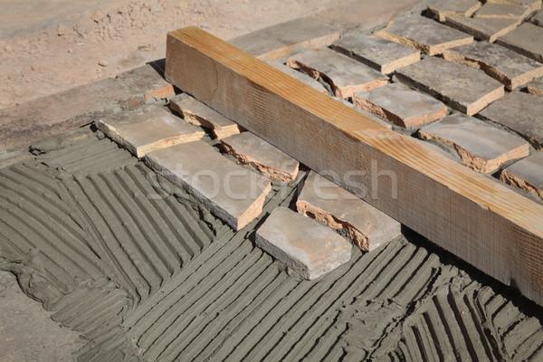 Pavimento terraza reciclaje materiales edad Foto stock © simazoran