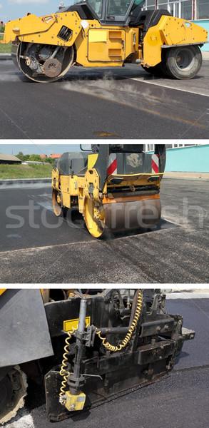 Yol yapımı yol asfalt makine Bina Stok fotoğraf © simazoran