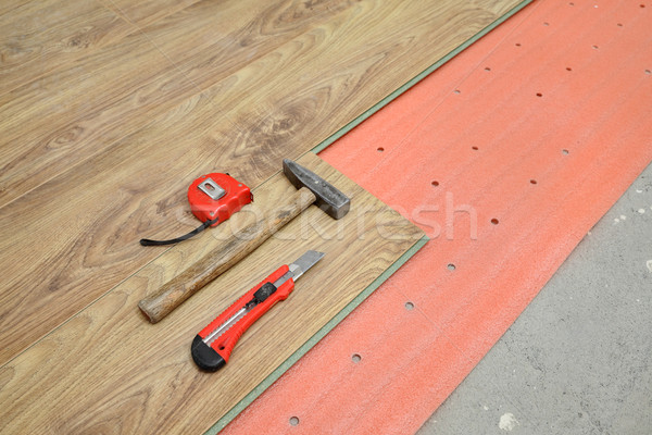 Laminate flooring of room Stock photo © simazoran
