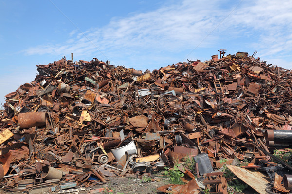 Recycling industry, heap of old metal Stock photo © simazoran