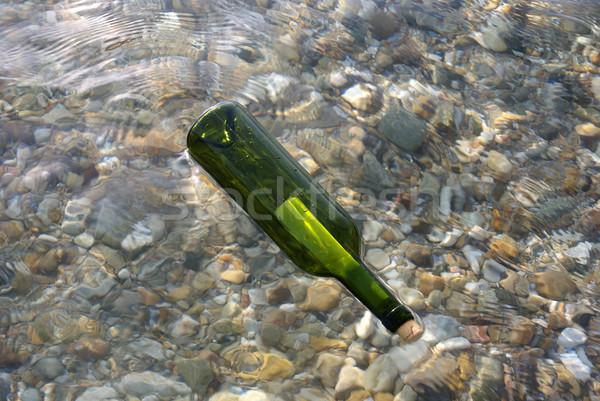ボトル メッセージ ビーチ 水 海 ガラス ストックフォト © simazoran