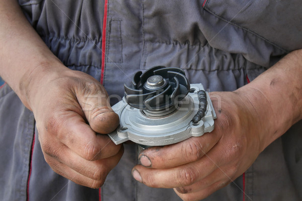 Stock photo: Automotive, water pump for car