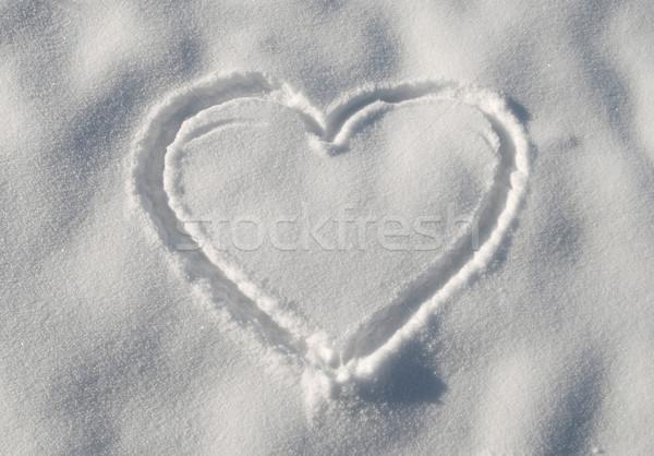 Invierno amor signo nieve blanco frío Foto stock © simazoran